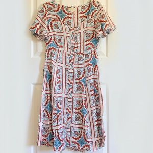 Anthropologie Maeve Praslin Printed Dress